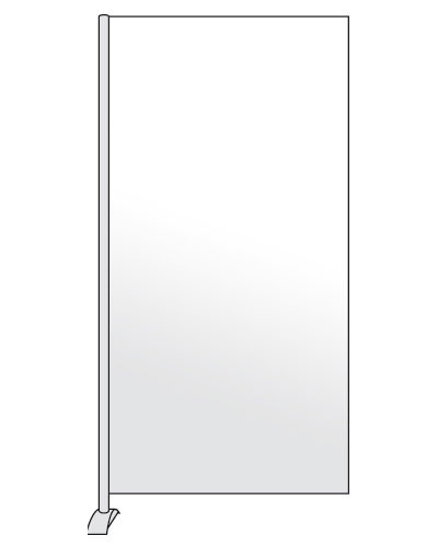 Scheidingswand whitebord