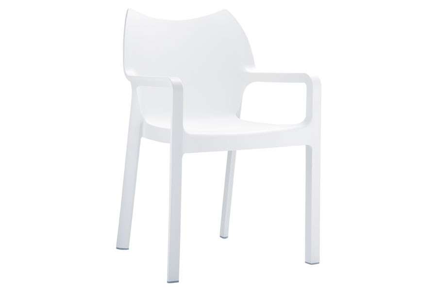 Stapelbare stoel Vida wit
