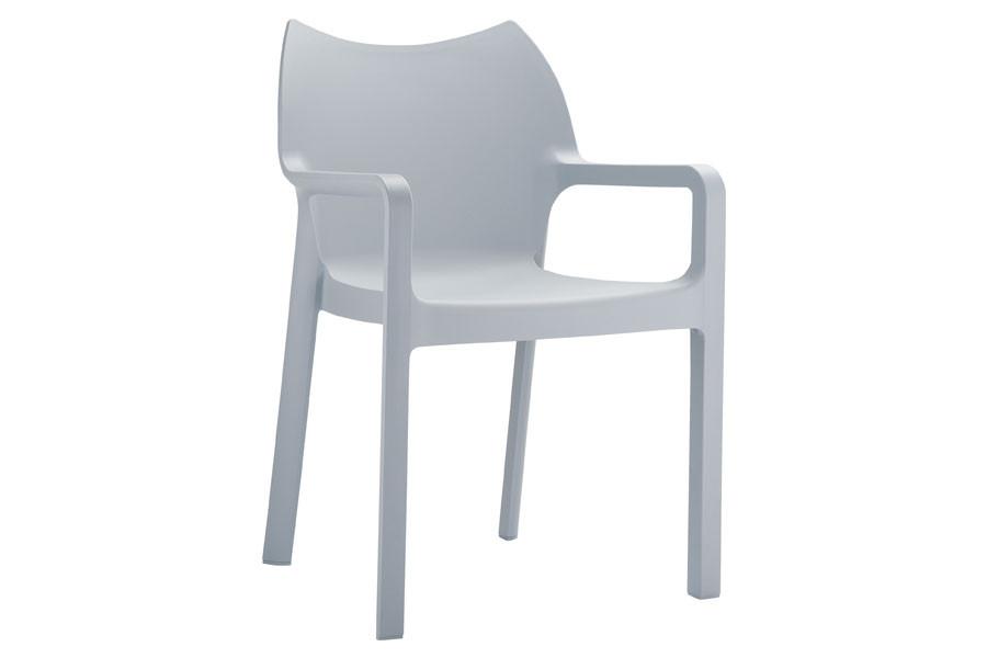 Stapelbare stoel Vida grijs