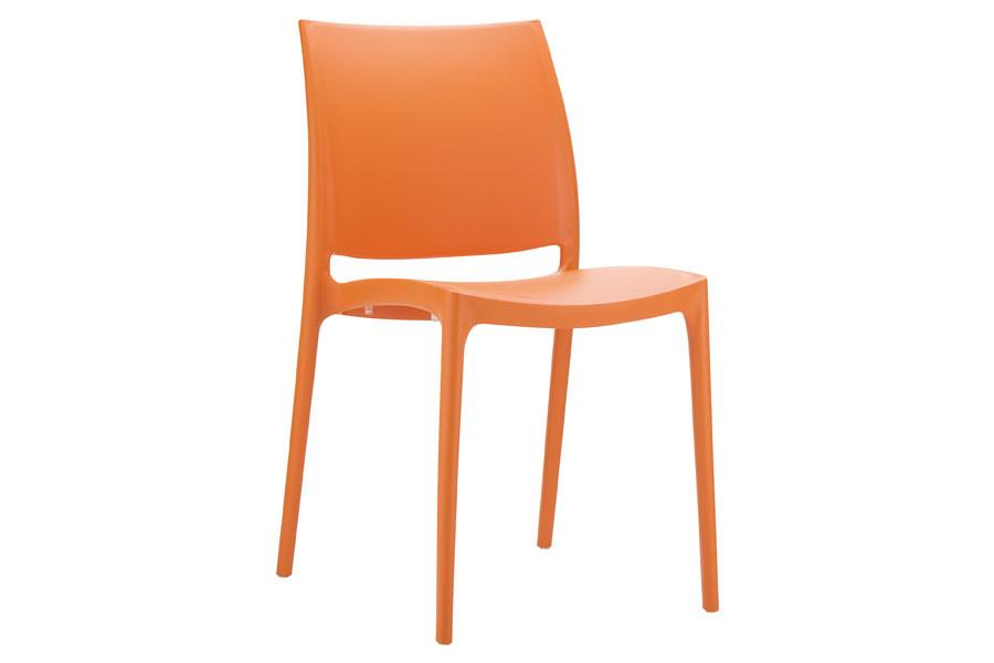 Stapelbare stoel Yami oranje
