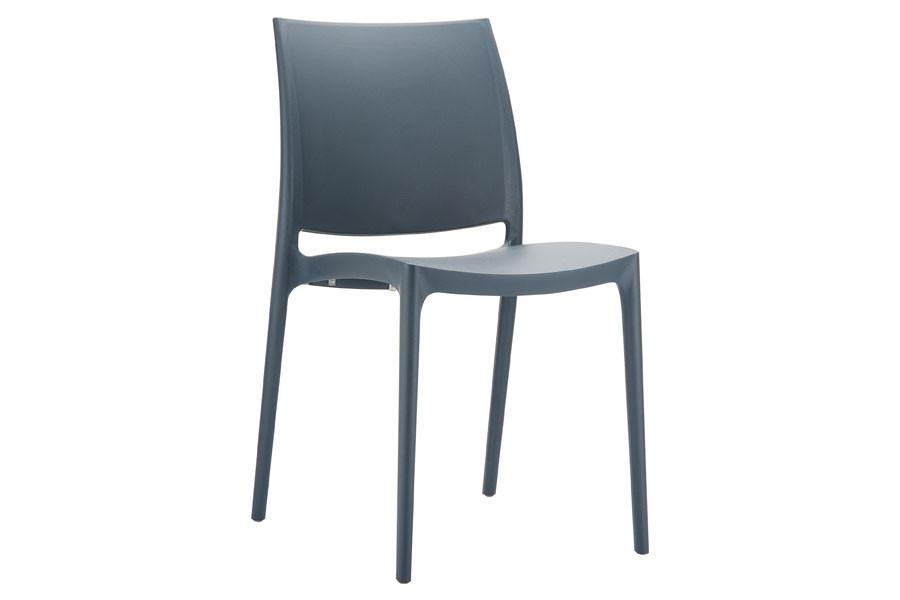 Stapelbare stoel Yami donkergrijs