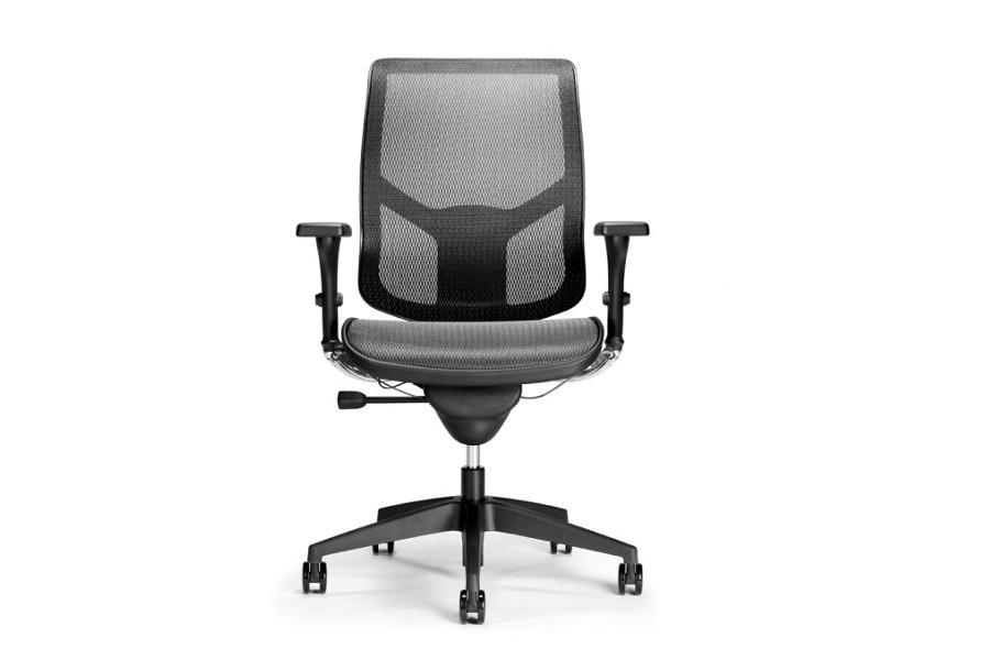 Bureaustoel Carver Air met gestoffeerde zitting