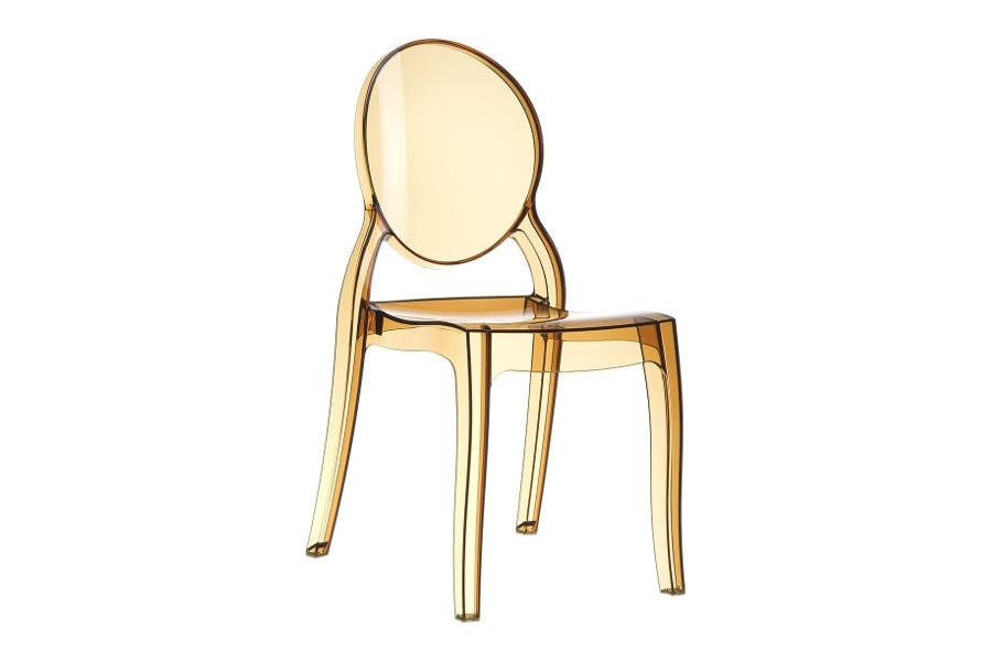 Stapelbare stoel Eli amber transparant