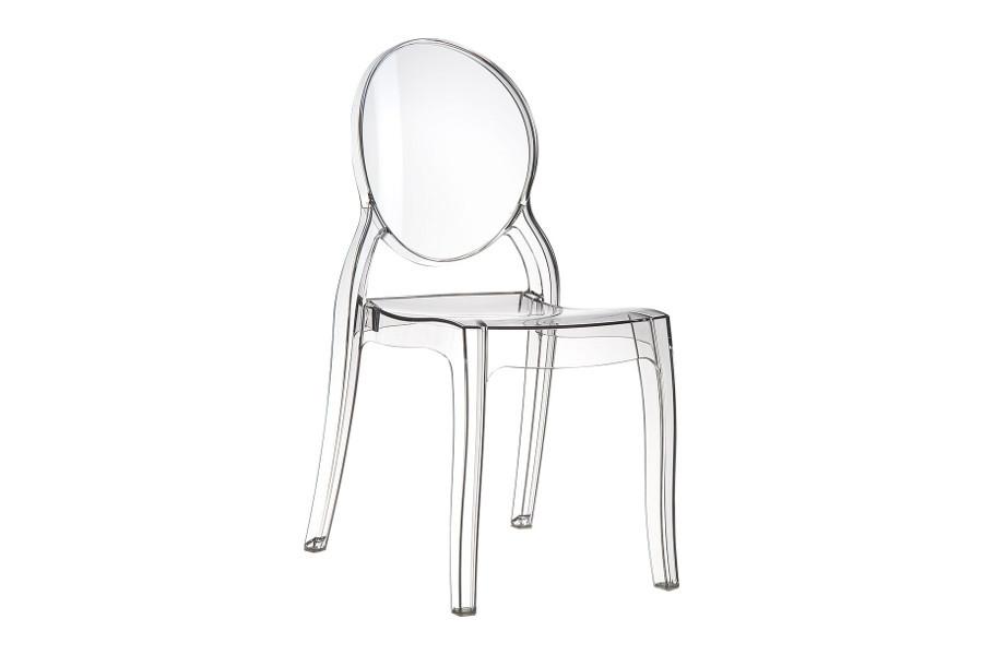 Stapelbare stoel Eli wit glossy