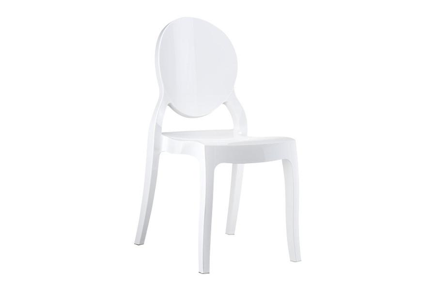Stapelbare stoel Eli wit