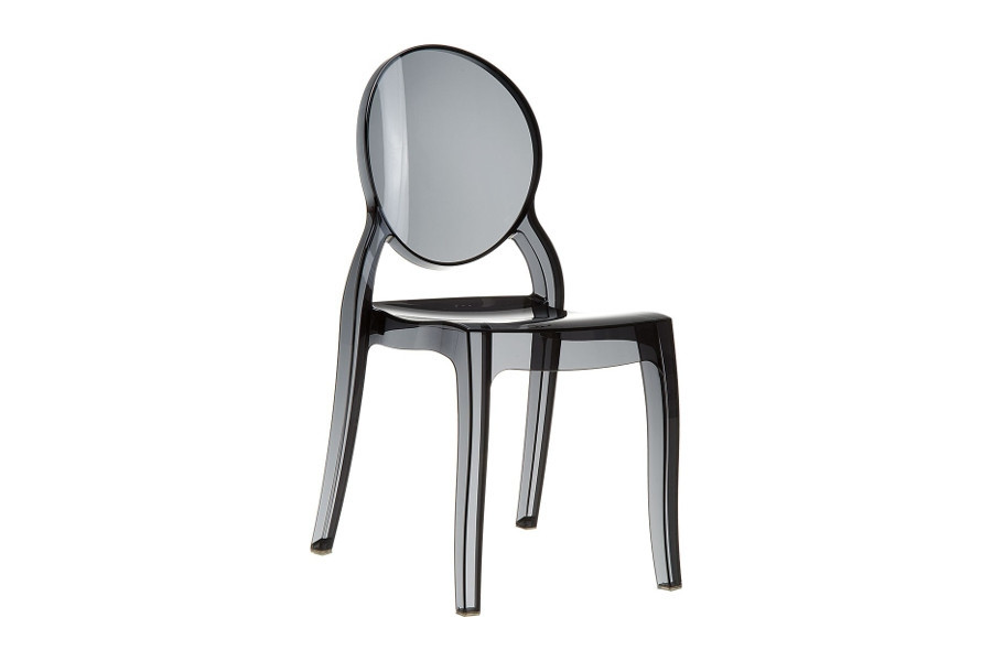 Transparante Design Stoelen.Stapelbare Stoel Eli Zwart Transparant