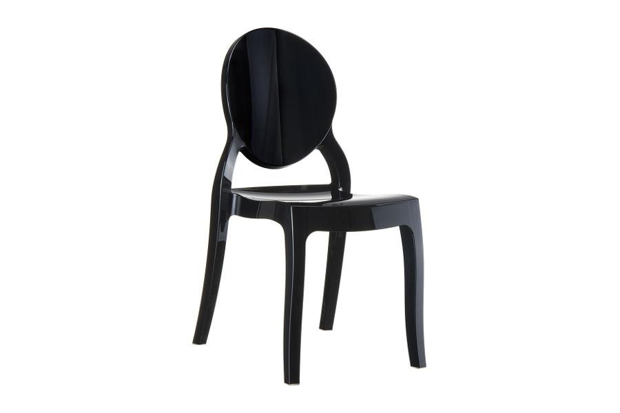 Stapelbare stoel Eli zwart
