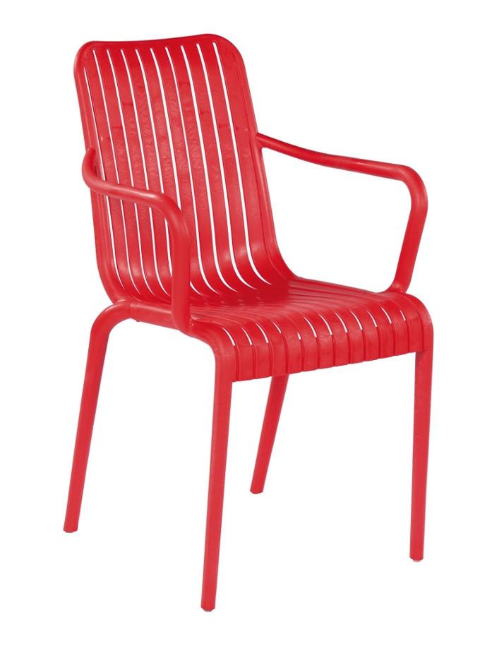 stapelbare stoel one rood