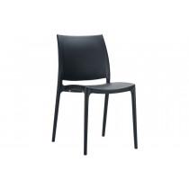 Stapelbare stoel Yami zwart