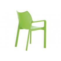 Stapelbare stoel Vida groen 2