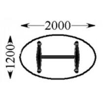 Vergadertafel ovaal 200x120 2