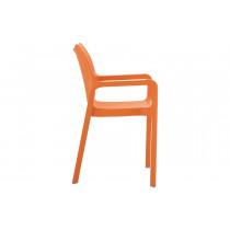 Stapelbare stoel Vida oranje 2