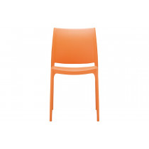 Stapelbare stoel Yami oranje 2