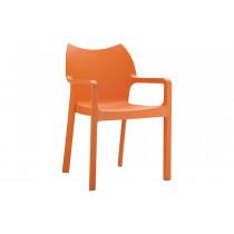 Stapelbare stoel Vida oranje