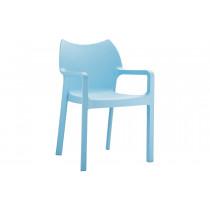 Stapelbare stoel Vida blauw