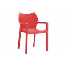 Stapelbare stoel Vida rood