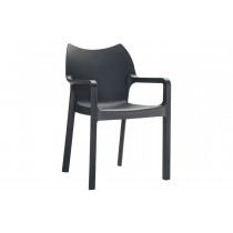 Stapelbare stoel Vida zwart
