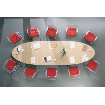 Ovale vergadertafel 420x120cm