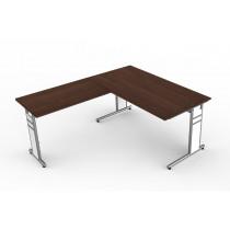 bureautafel met aanbouw tafel relina