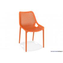 Stapelbare stoel Air Oranje