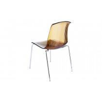 Stapelbare stoel Alegria glossy amber