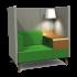 Tryst high back 1-zits bank met opzettafell (lamp optioneel)